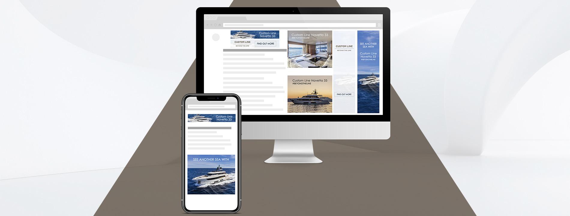 Arachno - Portfolio - Custom Line Yacht banners