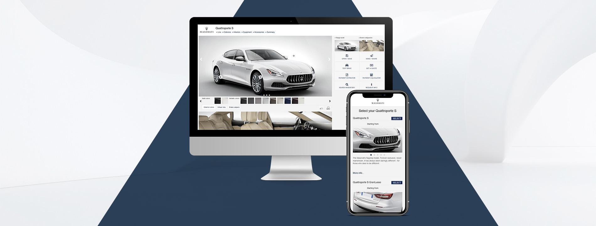 Arachno - Portfolio - Maserati Car Configurator