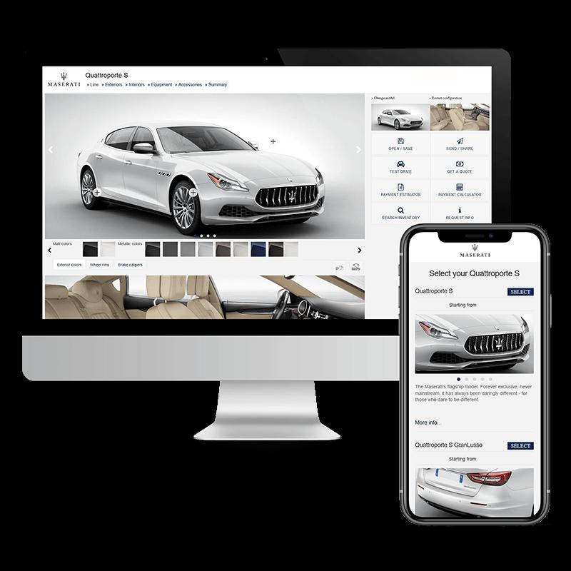 Arachno Digital Agency - Premi e riconoscimenti - Maserati Car Configurator