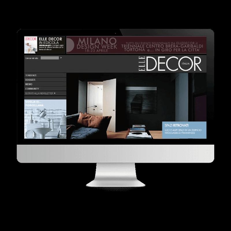 Arachno Digital Agency - Premi e riconoscimenti  - Elle Decor