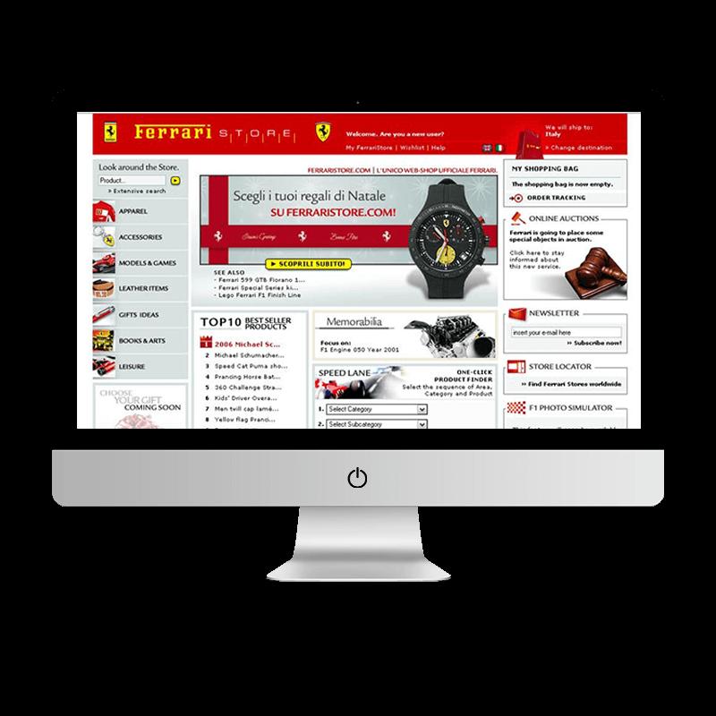 Arachno Digital Agency - Premi e riconoscimenti - Ferrari Store
