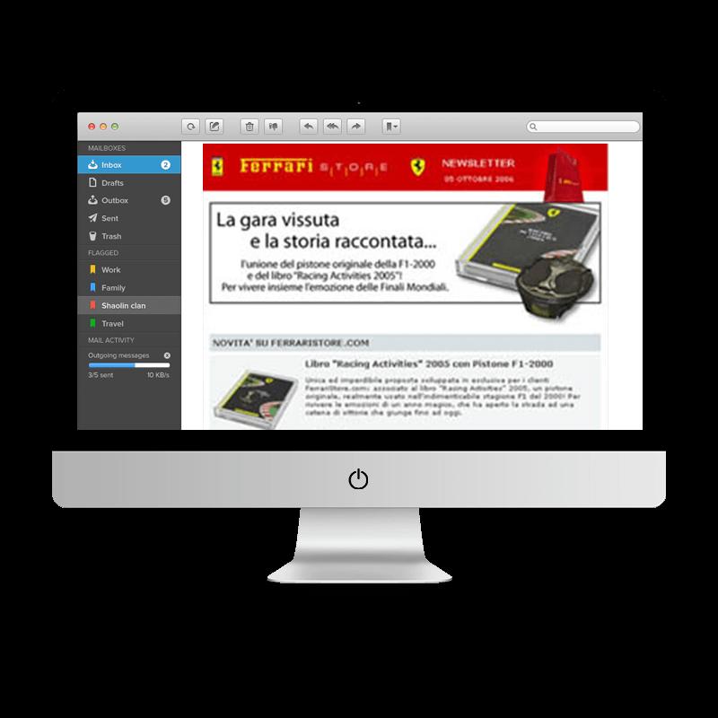 Arachno Digital Agency - Premi e riconoscimenti - Ferrari Store Newsletter