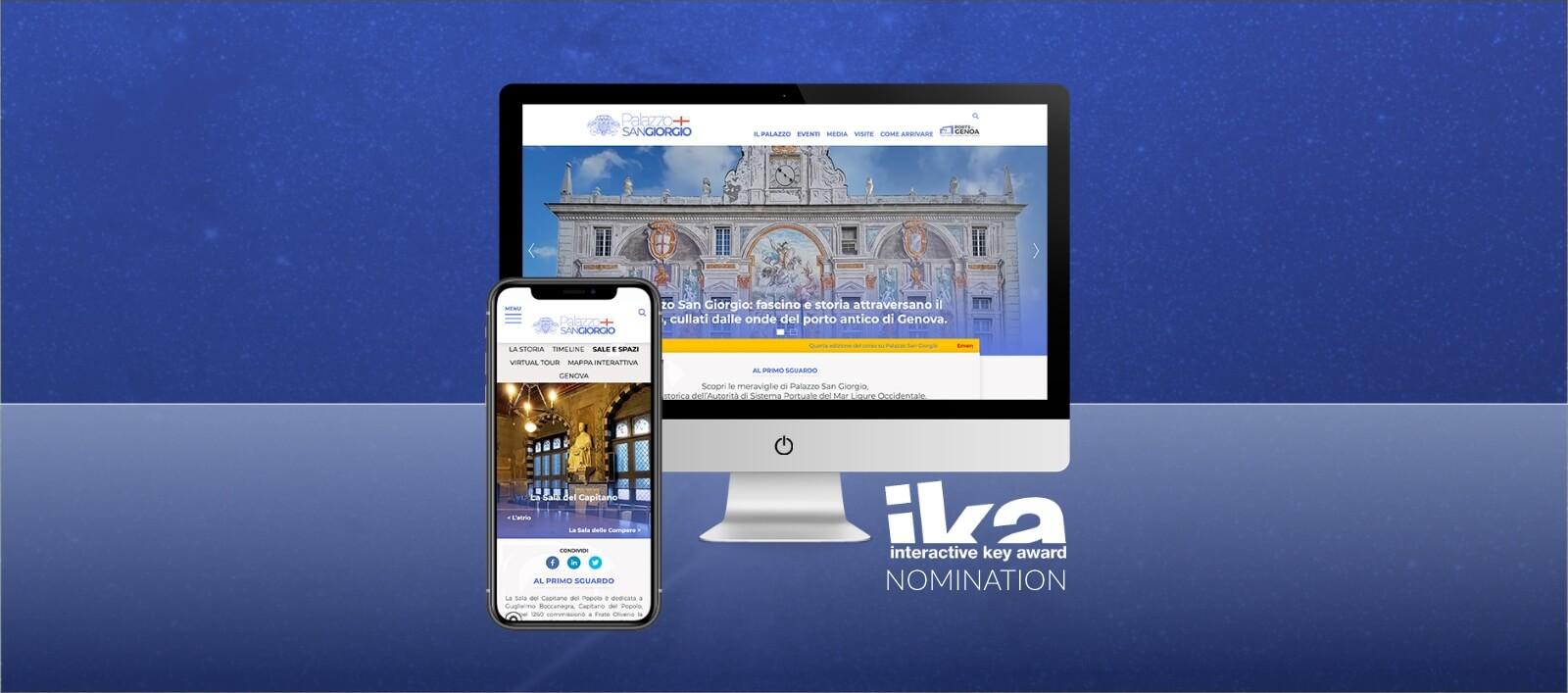 Arachno - Nomination agli Interactive Key Awards 2021 - SIto Palazzo San Giorgio