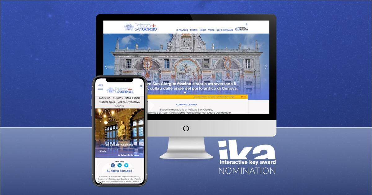 Interactive Key Awards 2021: Nomination al sito Palazzo San Giorgio di Genova.