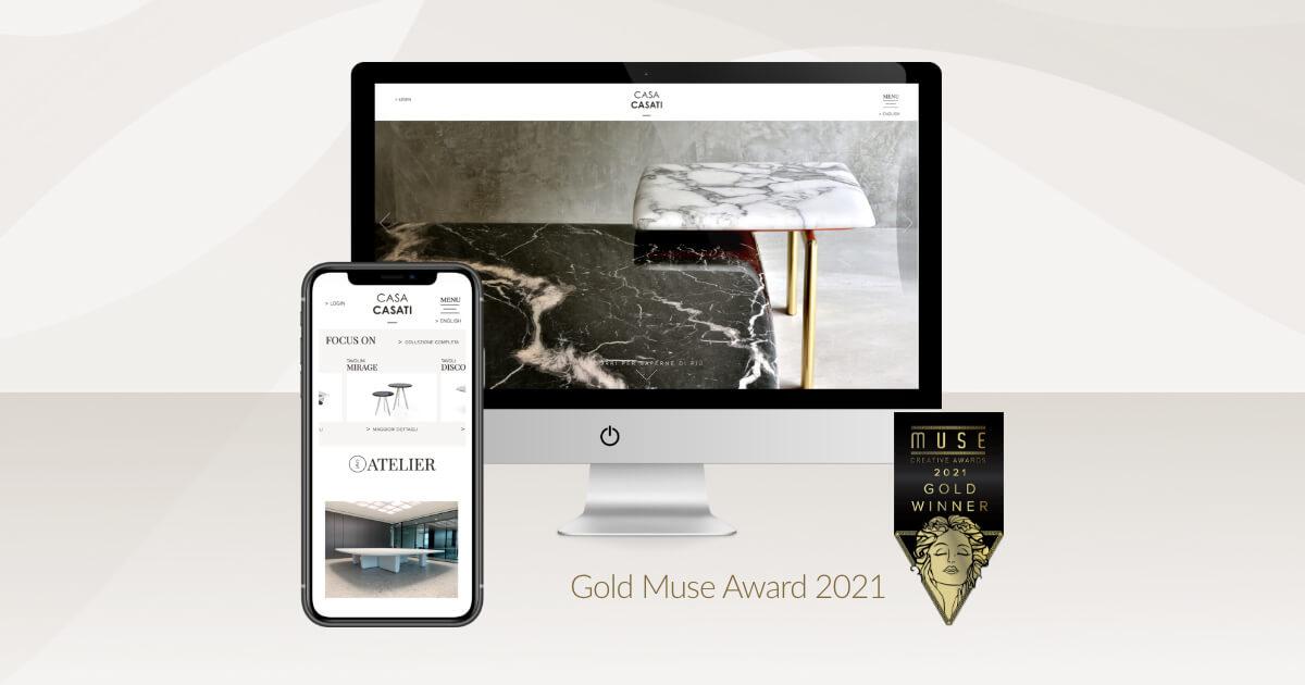 Arachno vince il Gold Muse Award 2021 per il design del sito Casa Casati.