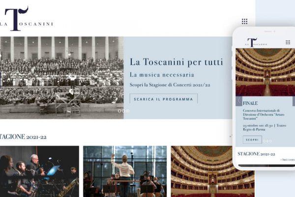 La Toscanini, una nuova user experience per la home page.