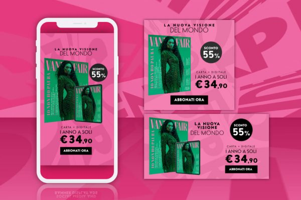 Vanity Fair – Campagna Social e Adv online